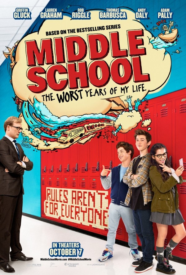 Giveaway: Middle School: The Worst Years of My Life by James Patterson