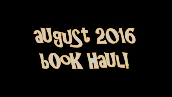 August Book Haul Video
