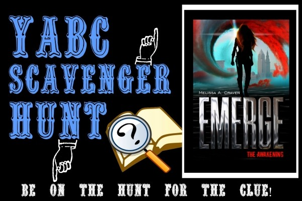 YABC Scavenger Hunt: Emerge: The Awakening, Plus Author Chat with Melissa Craven, and Extra Giveaway!