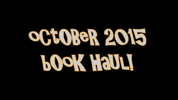 YABC Book Haul - October 2015