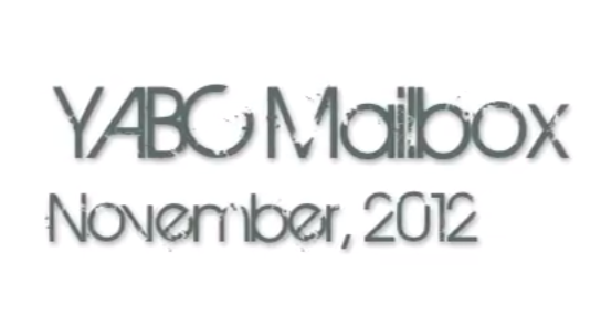 November 2012 YABC Mailbox Video + Giveaway! (International)