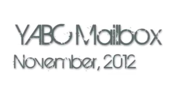 November 2012 YABC Mailbox Video + Giveaway! (International)